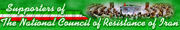 Supporters of The NCRI ; National Council of Resistance of Iran against fundamentalist islam practiced in Iran islamic republic of